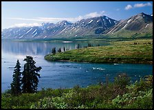 Twin Lakes and river, morning. Lake Clark National Park ( color)