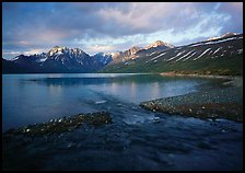 Telaquana Mountains above Turquoise Lake, sunset. Lake Clark National Park ( color)