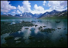 Telaquana Mountains and Turquoise Lake. Lake Clark National Park ( color)