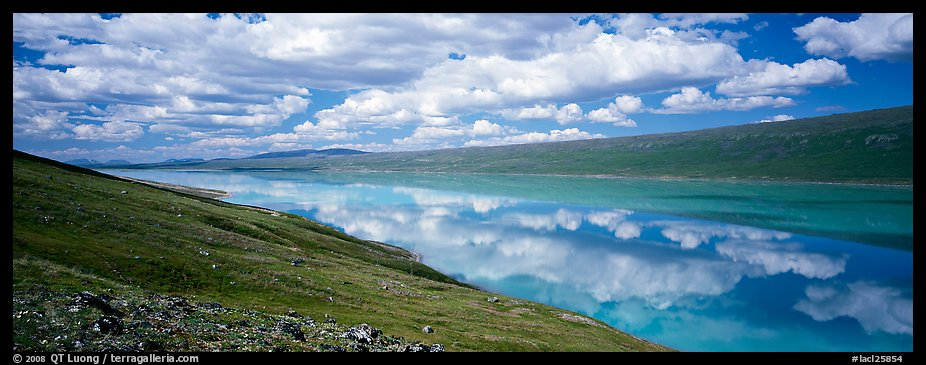 Turquoise Lake reflecting clouds. Lake Clark National Park (color)