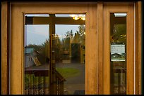 Visitor Center window reflexion. Lake Clark National Park ( color)