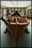 Historic fishing boat on exhibit. Lake Clark National Park ( color)