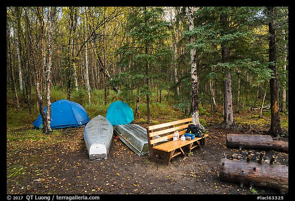 Backcountry campsite. Lake Clark National Park (color)