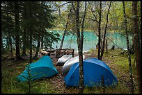 Camping next to Kontrashibuna Lake. Lake Clark National Park ( color)