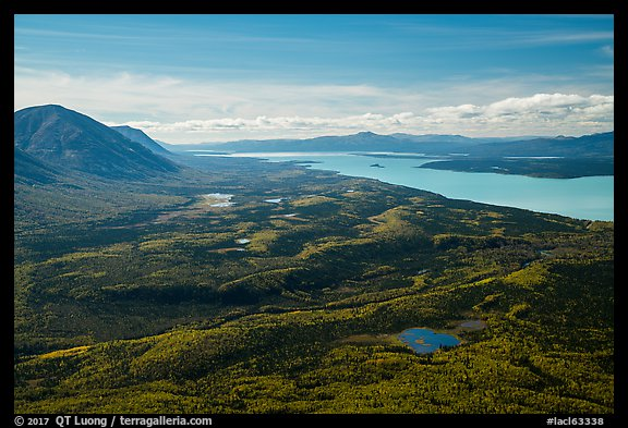 Looking south from Tanalian Mountain. Lake Clark National Park (color)