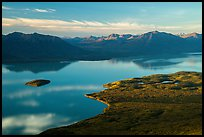 Lake Clark (Qizhjeh Vena) from above, late afternoon. Lake Clark National Park ( color)