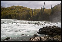 Tanalian River in autumn. Lake Clark National Park ( color)