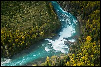 Aerial view of Tanalian River and Falls. Lake Clark National Park ( color)