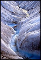 Close-up of glacial stream on Root glacier. Wrangell-St Elias National Park ( color)