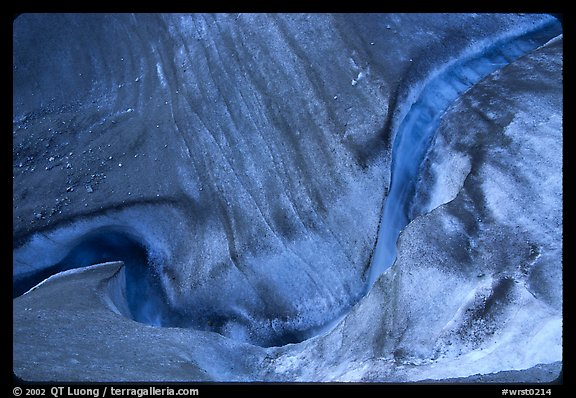 Stream and ice on on Root glacier. Wrangell-St Elias National Park (color)