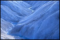 Glacial stream on Root glacier. Wrangell-St Elias National Park, Alaska, USA. (color)