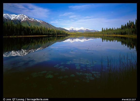 Crystalline Hills and Crystal Lake. Wrangell-St Elias National Park (color)