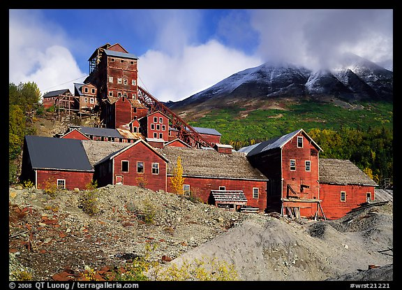 Kennicott historic copper mine. Wrangell-St Elias National Park (color)