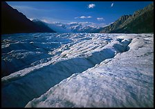 Crevasses and Root Glacier, afternoon. Wrangell-St Elias National Park ( color)