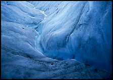Glacial stream close-up, Root Glacier. Wrangell-St Elias National Park ( color)