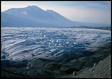 Root glacier and Bonanza ridge, morning. Wrangell-St Elias National Park ( color)