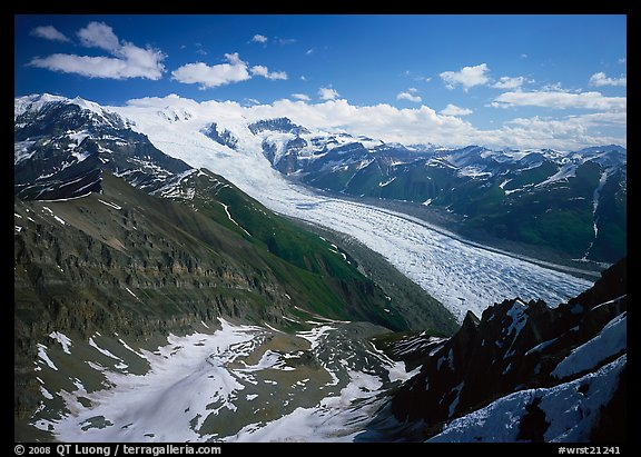 Root Glacier seen from Mt Donoho. Wrangell-St Elias National Park (color)