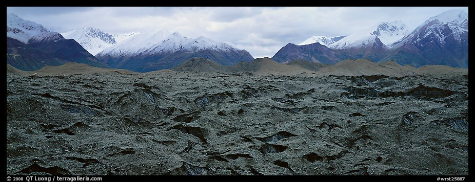Black glacier. Wrangell-St Elias National Park (color)