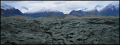 Black glacier. Wrangell-St Elias National Park (Panoramic color)
