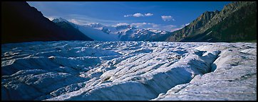Glacier with crevasses. Wrangell-St Elias National Park (Panoramic color)