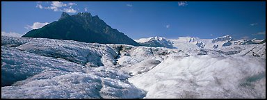 Glacier and peak. Wrangell-St Elias National Park (Panoramic color)