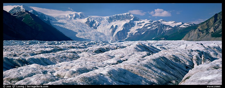 Mountain glacier scenery. Wrangell-St Elias National Park (color)