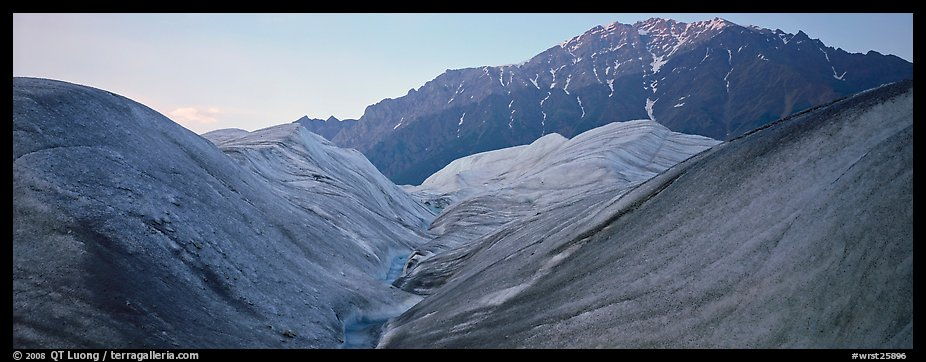 Glacial forms and rocky mountain. Wrangell-St Elias National Park (color)
