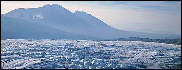 Crevassed glacier and mountains. Wrangell-St Elias National Park (Panoramic color)