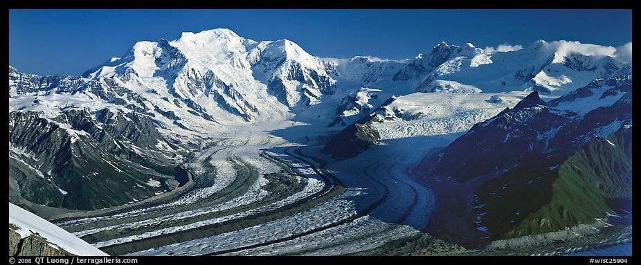 Mt Blackburn and glacier. Wrangell-St Elias National Park (color)