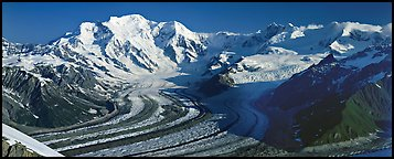 Mt Blackburn and glacier. Wrangell-St Elias National Park (Panoramic color)