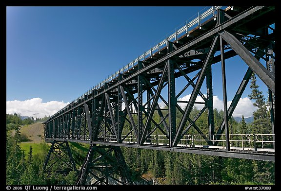 Bridge over Kuskulana river. Wrangell-St Elias National Park (color)