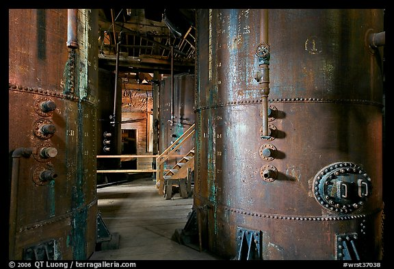 Ammonium leeching facility, Kennecott concentration plant. Wrangell-St Elias National Park (color)
