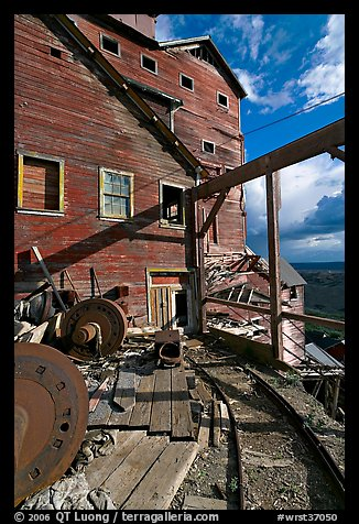 Rails and Kennecott Mill. Wrangell-St Elias National Park (color)