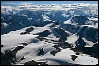 Aerial view of Saint Elias Mountains. Wrangell-St Elias National Park ( color)