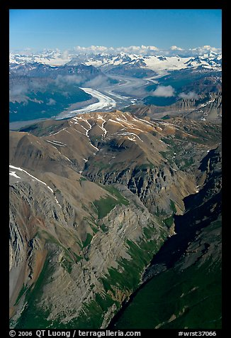 Aerial view of Chitistone Mountains. Wrangell-St Elias National Park (color)