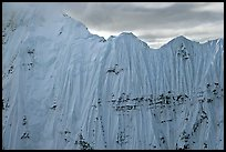 Aerial view of ice wall, University Range. Wrangell-St Elias National Park, Alaska, USA. (color)