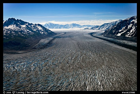 Aerial view of Tana Glacier. Wrangell-St Elias National Park (color)