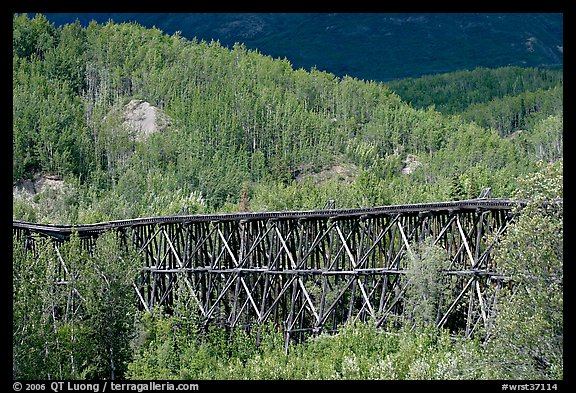 Gilahina trestle and hills. Wrangell-St Elias National Park (color)