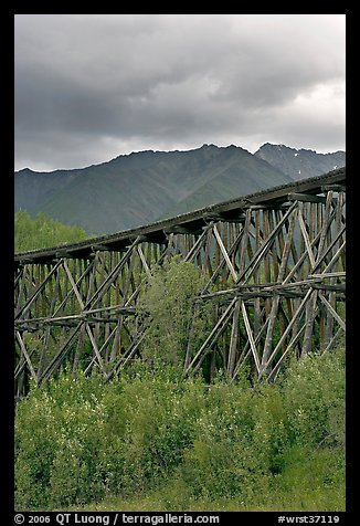 Historic CR and NW Gilahina trestle. Wrangell-St Elias National Park (color)