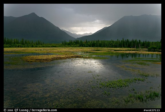 Storm light on lake. Wrangell-St Elias National Park (color)