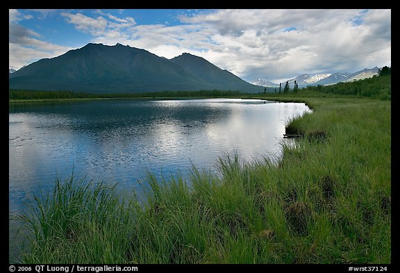 Clearing storm on lake. Wrangell-St Elias National Park (color)