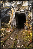 Entrance to Rambler mine. Wrangell-St Elias National Park ( color)