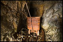 Ore car inside Rambler mine. Wrangell-St Elias National Park ( color)