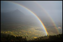 Double rainbow, Devils Mountain. Wrangell-St Elias National Park ( color)