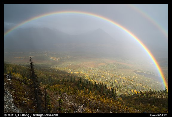 Double rainbow, Nabesna River Valley. Wrangell-St Elias National Park (color)