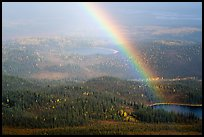 Rainbow and lakes from above. Wrangell-St Elias National Park ( color)