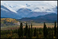 Snowy mountains above Nabesna River Valley. Wrangell-St Elias National Park ( color)