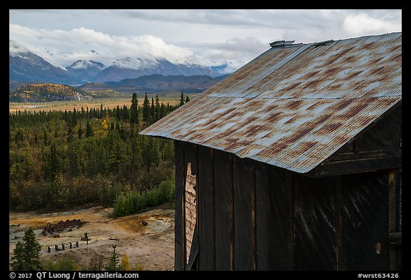 Mill above Nabesna River Valley. Wrangell-St Elias National Park (color)