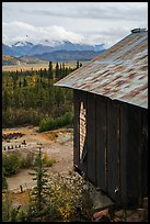 Mill overlooking Nabesna River Valley. Wrangell-St Elias National Park ( color)