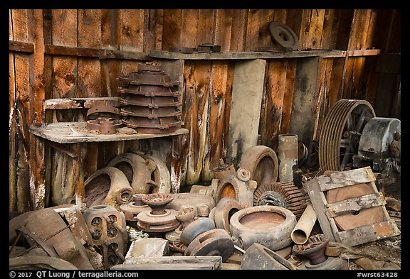 Abandonned machinery parts in mine. Wrangell-St Elias National Park (color)